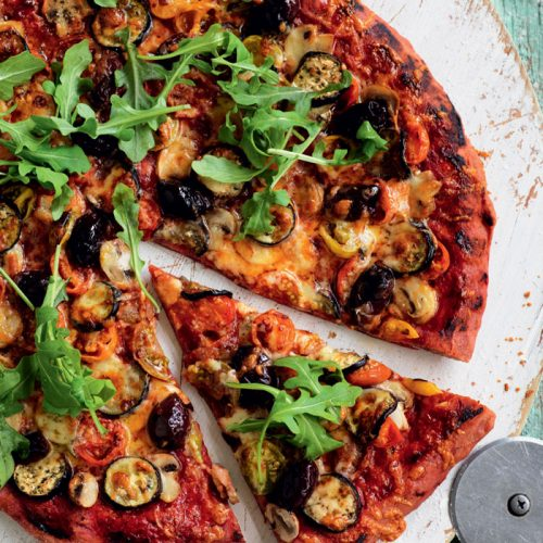 Vege-licious pizza