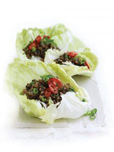 Vegetarian san choy bao