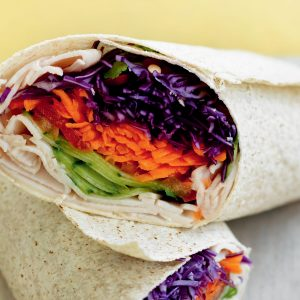 Vietnamese turkey salad wrap