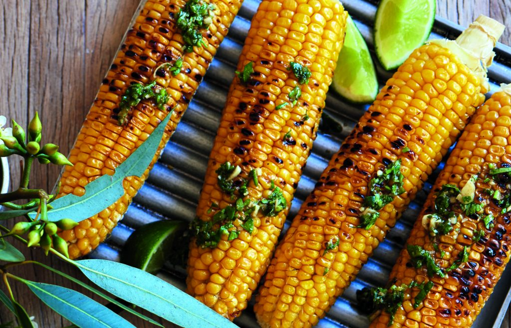Chipotle and lime sweetcorn cobs