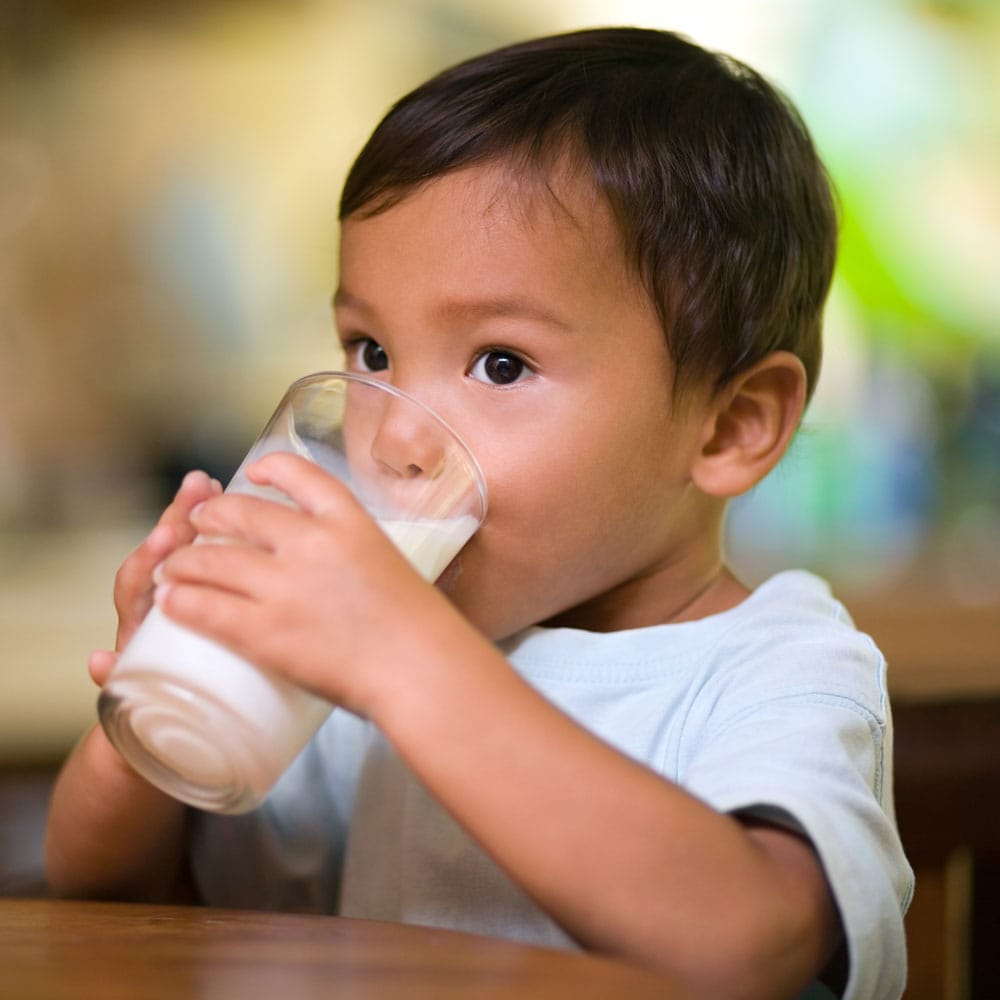 High vitamin D and lower BMI for whole-fat milk drinking kids