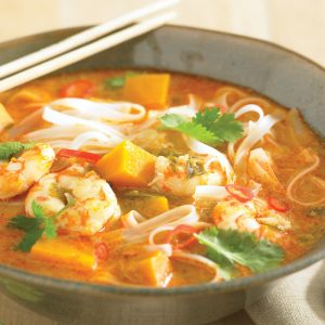 Prawn and pumpkin laksa