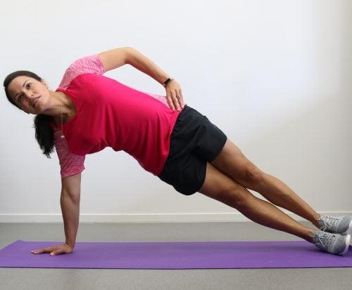 Sitting side hip raise