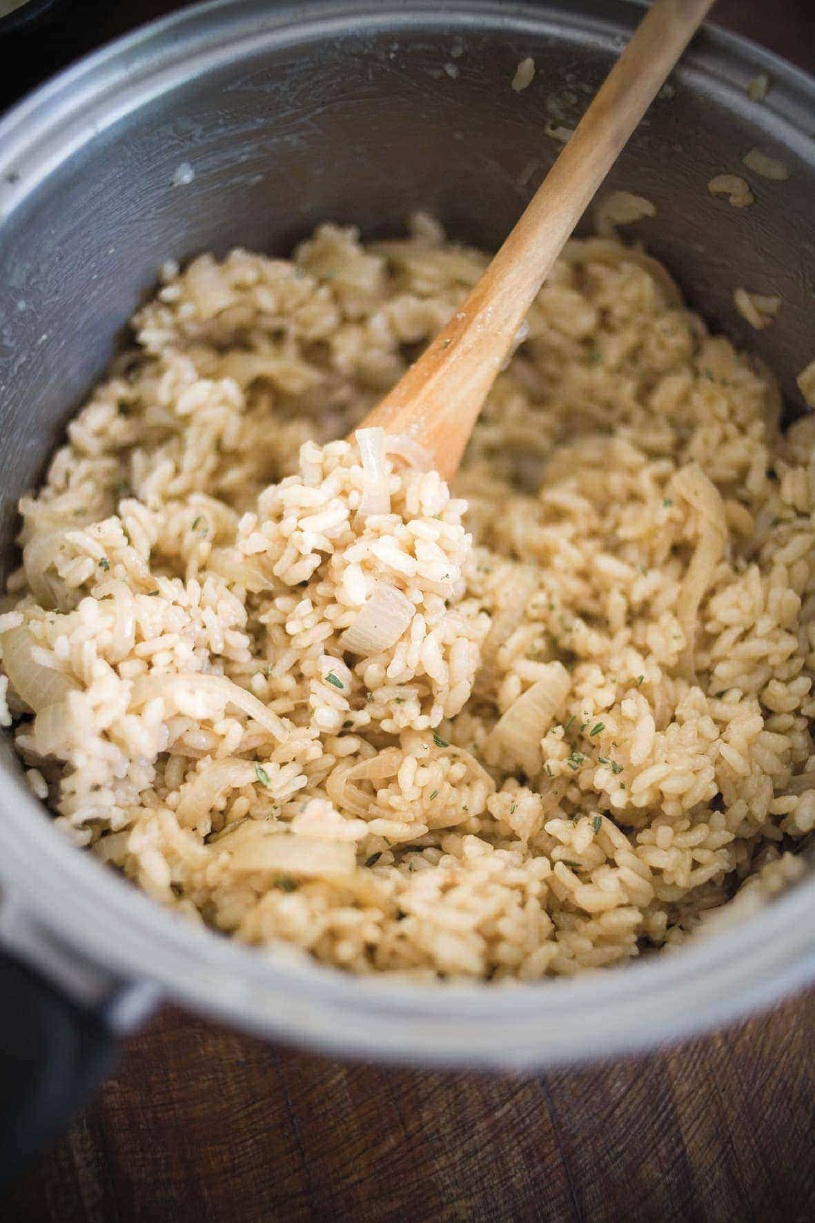 1 recipe = 4 dinners: Herby onion rice