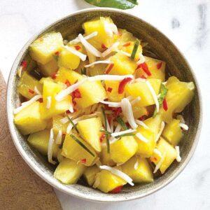 Peppy pineapple salsa