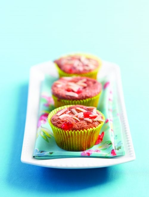 Almond and cherry crunch muffins