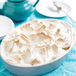 Apple snow pudding