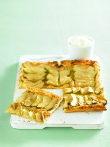 Apple and almond galette