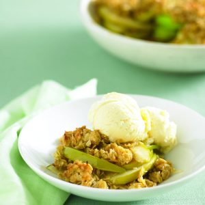 Apple and coconut crumble