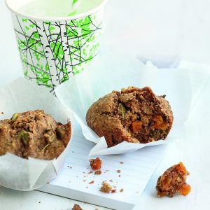Apricot, walnut and thyme muffins