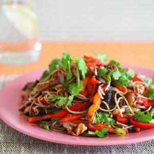Asian-style warm mushroom salad