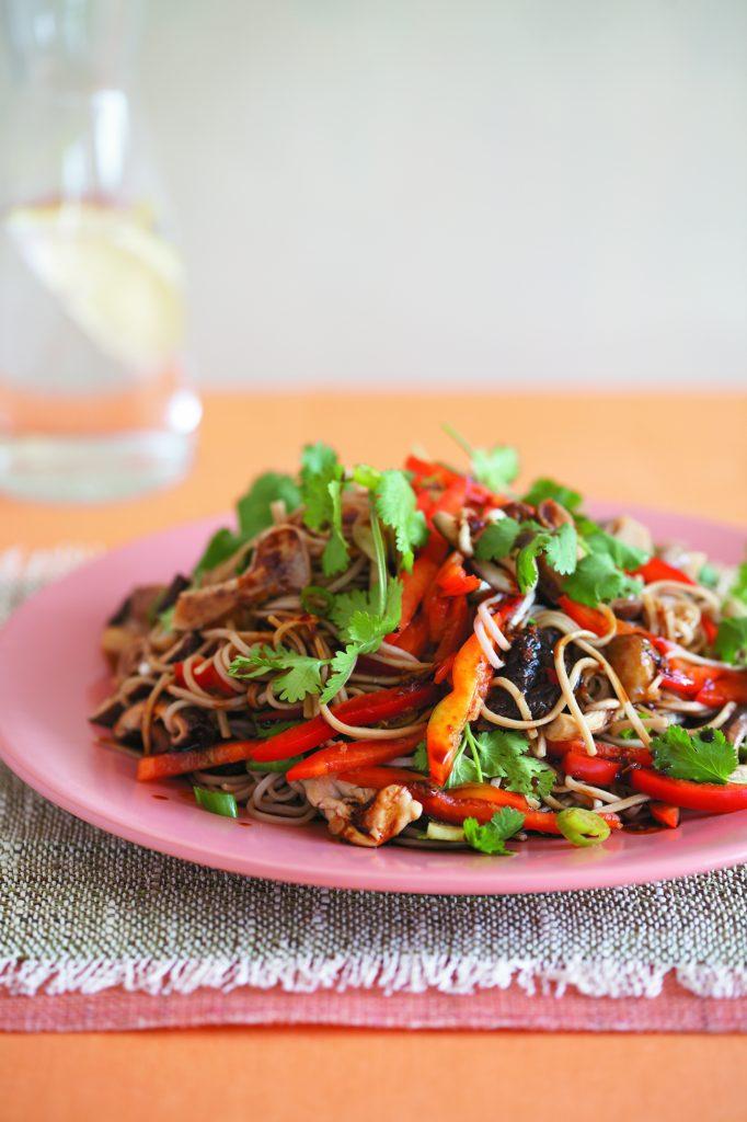 Asian-style warm mushroom salad