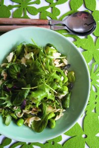 Asparagus and ricotta salad with mint vinaigrette