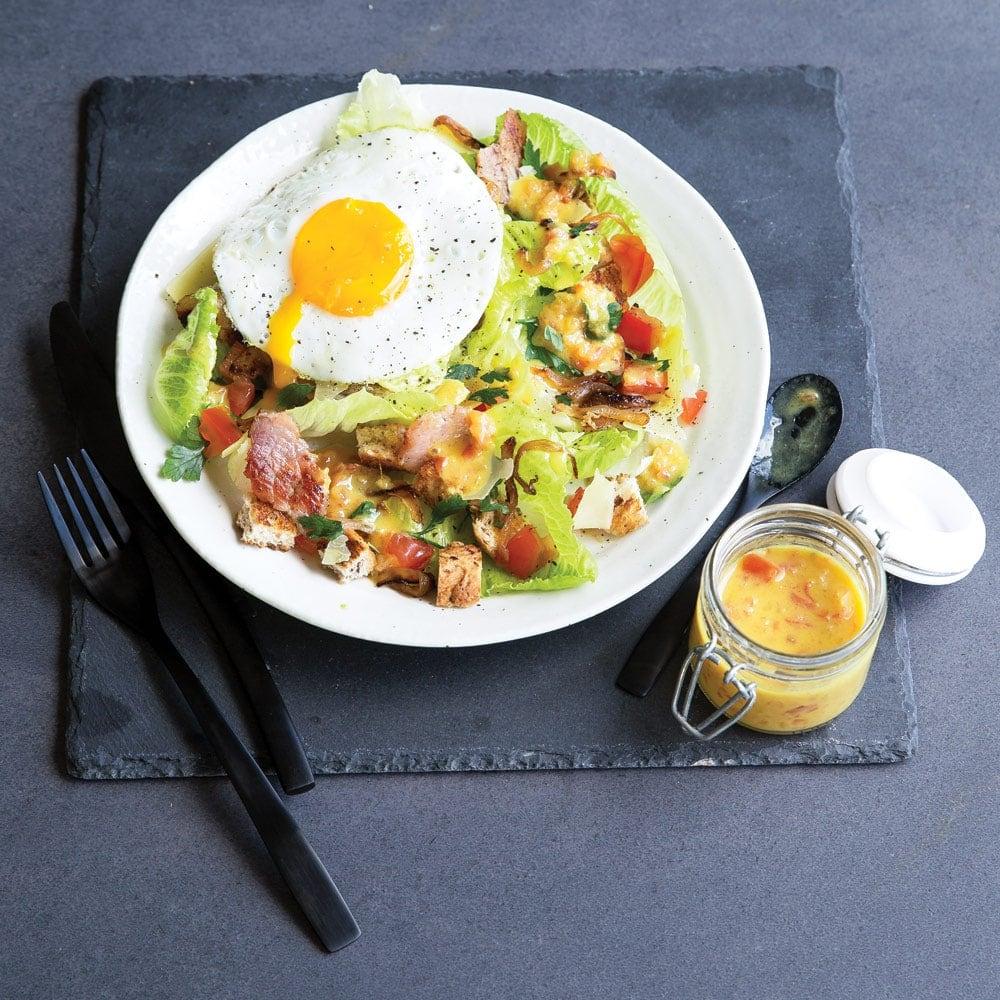 Bacon and egg hangover salad