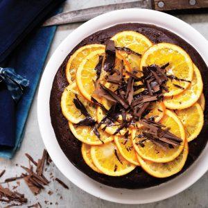 Baked ricotta, chocolate and orange cake