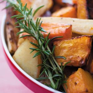 Balsamic roasted vegetables with rosemary