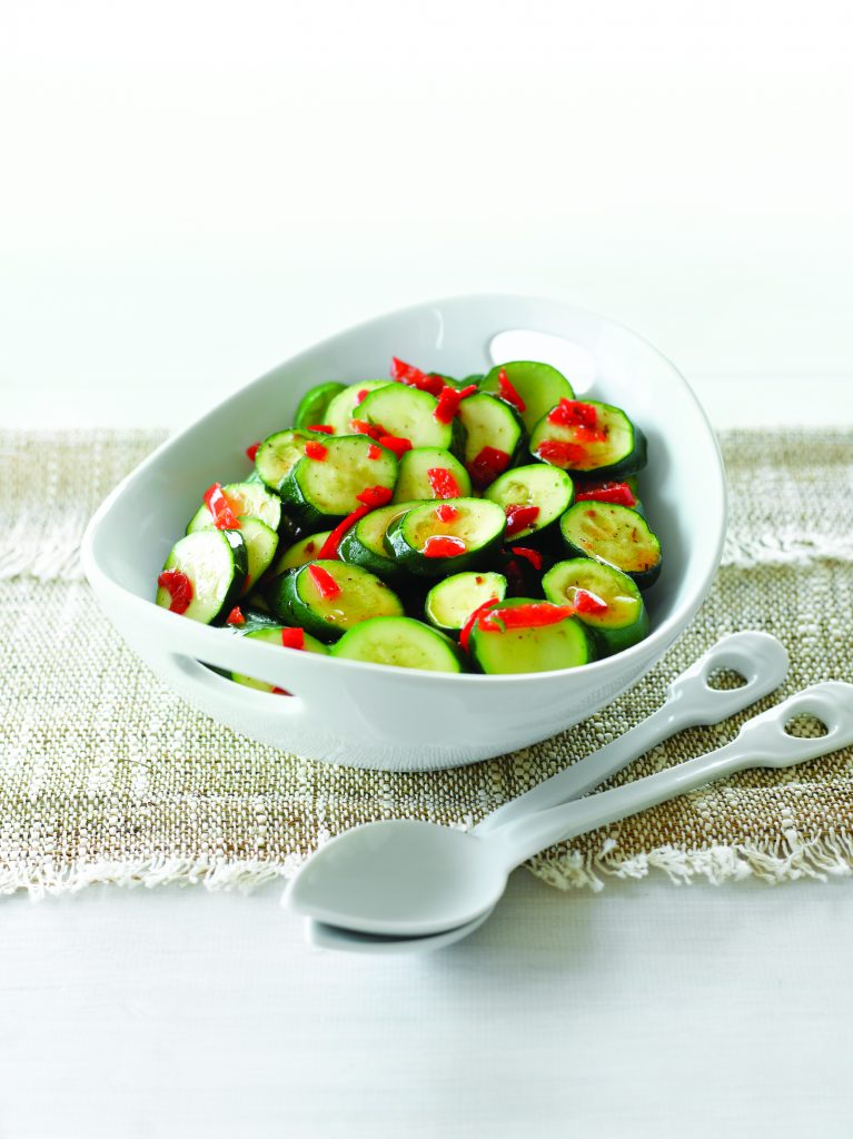 Balsamic courgettes