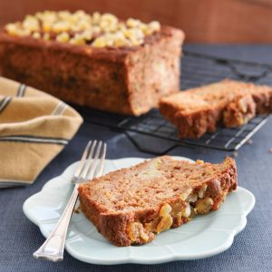 Banana feijoa bread with crystallised ginger