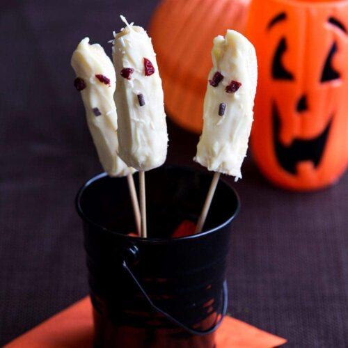 Banana ghost lollies