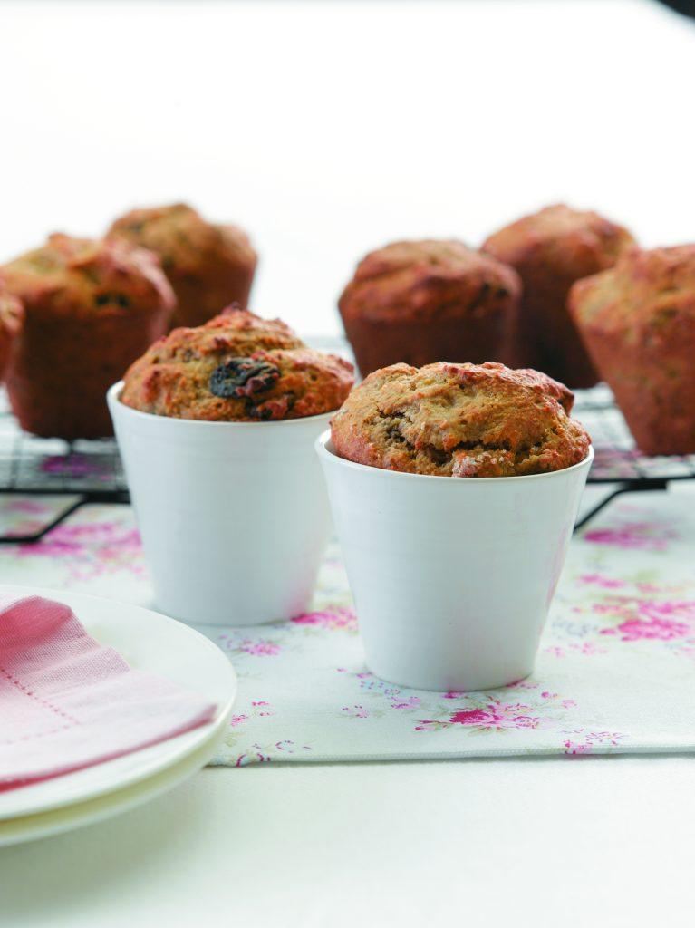 Banana and raisin bran muffins