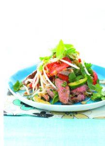 Barbecue lamb salad