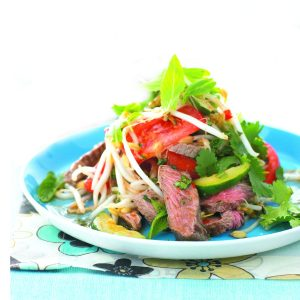 Barbecue lamb salad