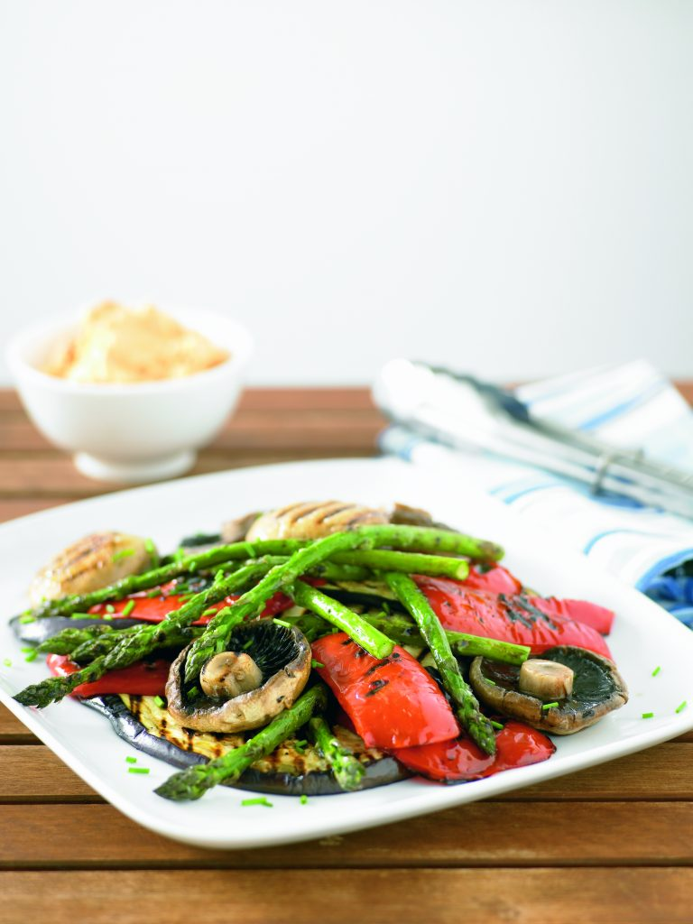 Barbecue vegetable medley