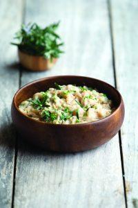Bean, garlic and rosemary mash