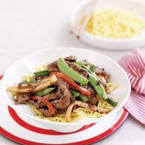 Beef and black bean stir-fry