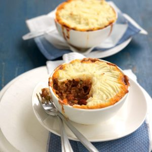 Beef and vegetable cottage pies