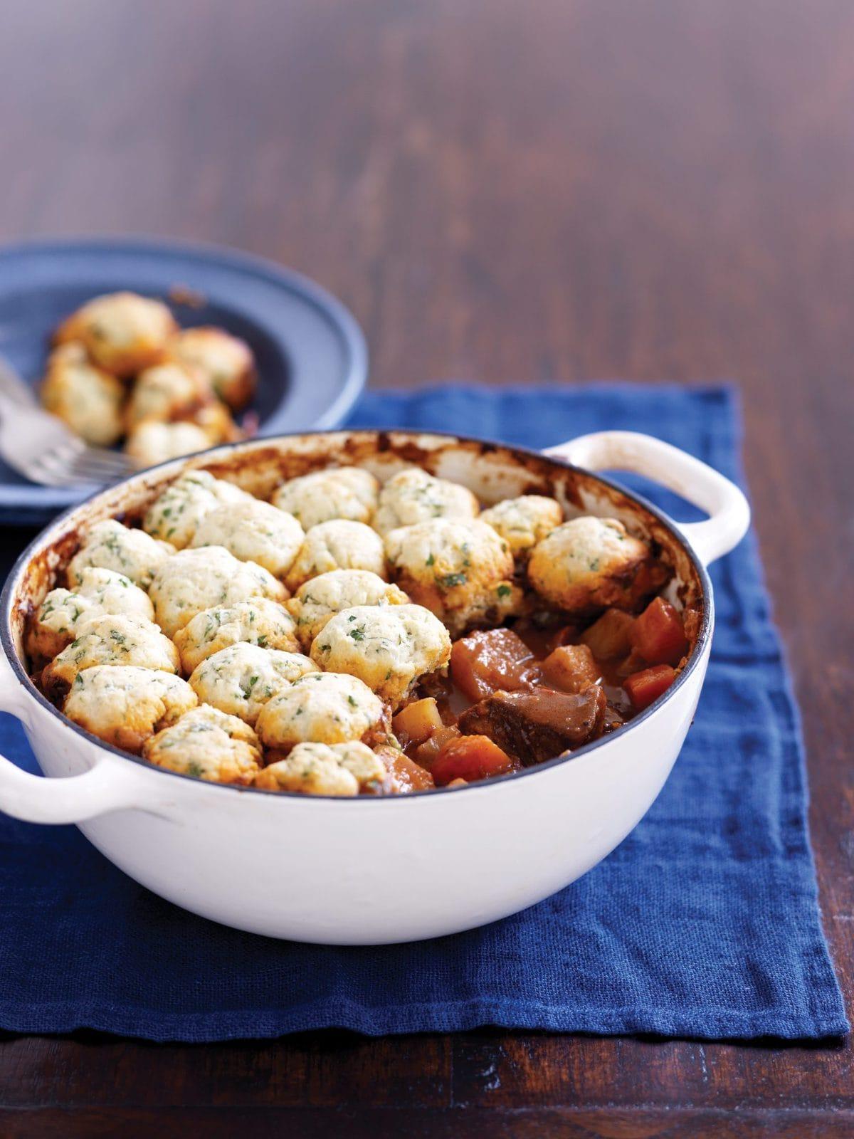 Beef goulash with herb dumplings | Healthy Food Guide