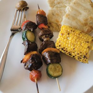 Beef kebabs with balsamic citrus marinade
