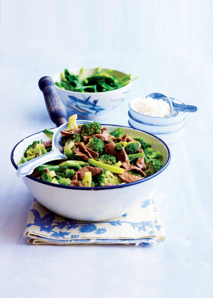 Beef with broccoli and ginger