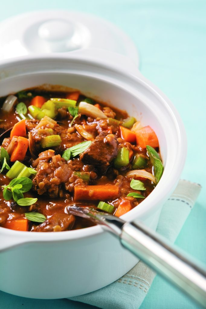 Beef and lentil casserole