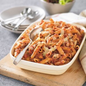Beef and pasta bake