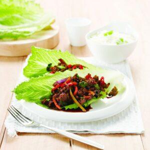 Beef sang choy bao