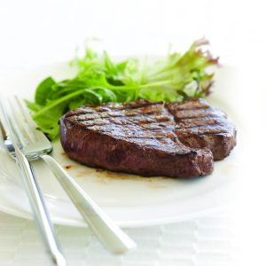 Beef steak with simple marinade