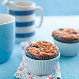 Berry and banana brunch muffins