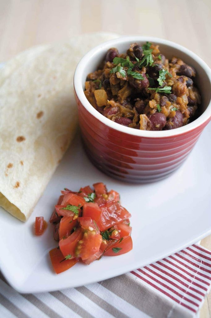 Black and red bean chilli