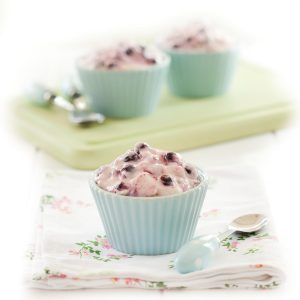 Blackcurrant iced mousse