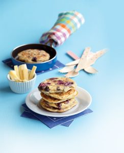 Blueberry and banana pikelets