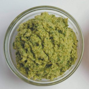 Broad bean, pea and mint dip
