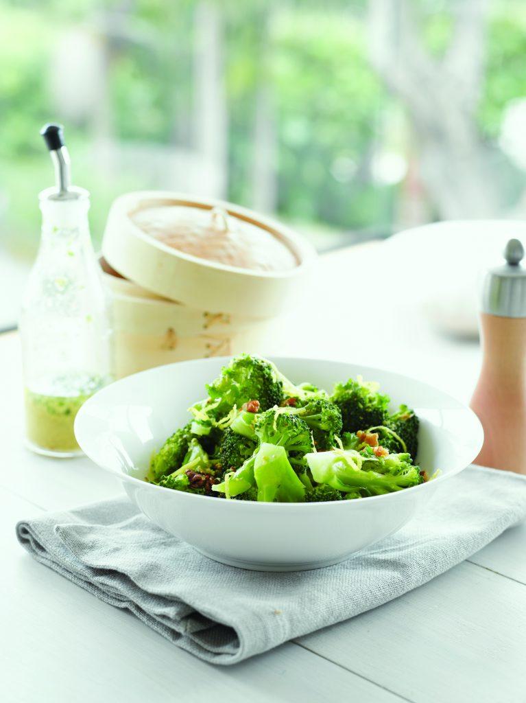Broccoli in mustard vinaigrette