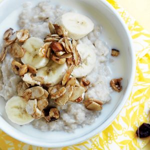 Brown sugar nut cluster porridge