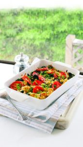 Brown rice and vegetable bake