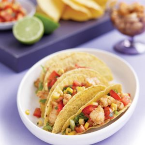 Cajun fish tacos with corn salsa