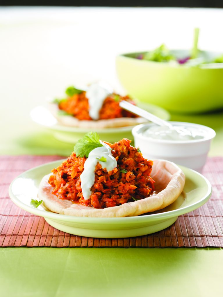 Carrot and red lentil dhal