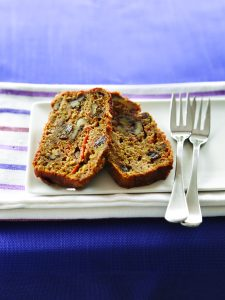 Carrot and walnut allspice loaf