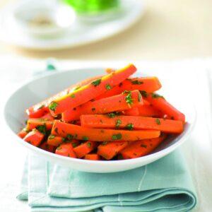 Carrots with honey, cumin and coriander