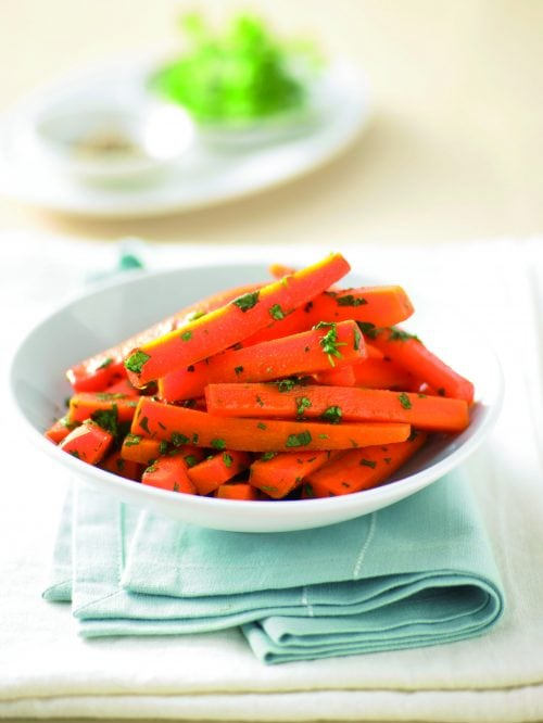 Carrots with honey, cumin and coriander